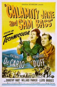 Calamity Jane and Sam Bass poster