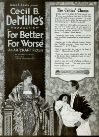 For Better, for Worse poster