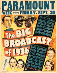 The Big Broadcast of 1936 poster